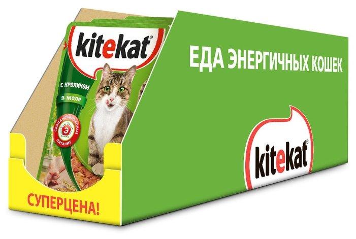 Корм для кошек Kitekat с кроликом 85 г (кусочки в желе)