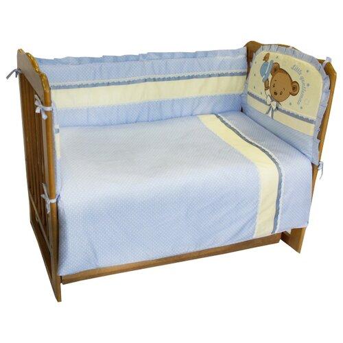Sonia Kids комплект Мишка Джентельмен (6 предметов) голубой в горошекПостельное белье и комплекты<br>
