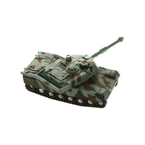 Купить Танк Junfa toys со световыми и звуковыми эффектами (KLX700-4A) 1:32 24 см зеленый, Машинки и техника