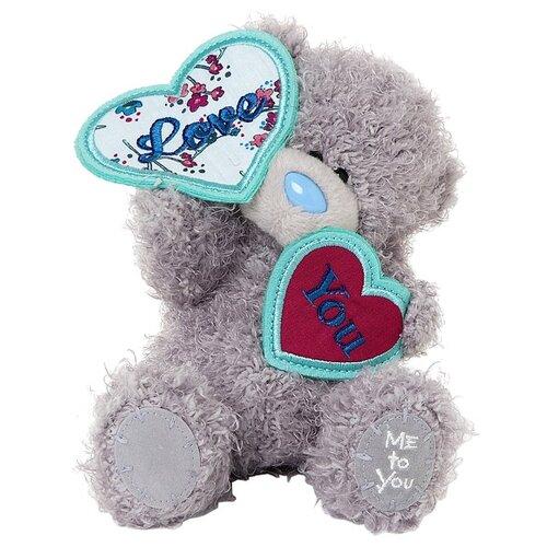 Мягкая игрушка Me to you Мишка Тедди с двумя сердечками 18 см
