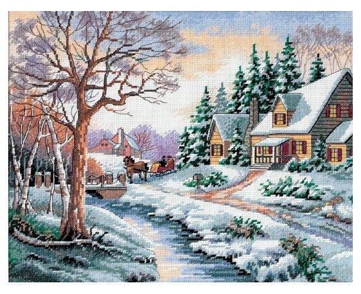 Dimensions Набор для вышивания крестиком Зимняя улица 36 х 28 см (13691)