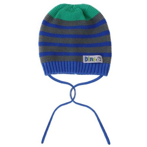 Шапка playToday размер 42, темно-синий/светло-серый/зеленыйГоловные уборы<br>
