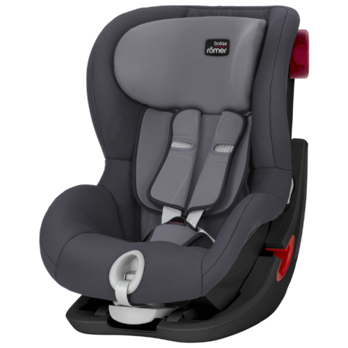 Автокресло группа 1 (9-18 кг) BRITAX ROMER King II, Storm Grey black series автокресло britax romer king ii black series wine rose trendline