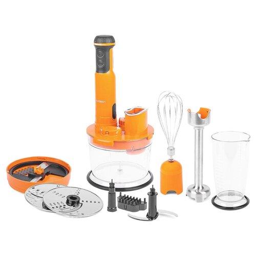 Фото - Погружной блендер Oursson HB6070/OR, оранжевый блендер погружной oursson hb6040 sp