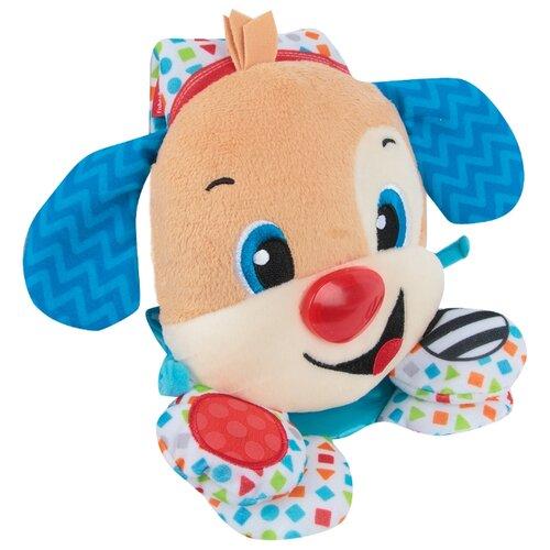 Купить Подвесная игрушка Fisher-Price Щенок для кроватки (FTF67) бежевый/синий/белый, Подвески