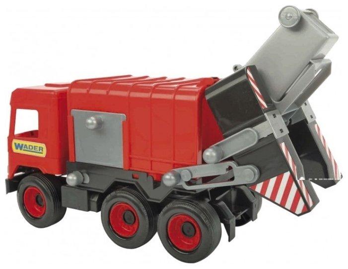 Мусоровоз Wader Middle Truck (39488) красный