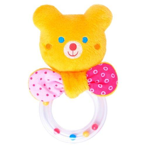 Погремушка Мякиши Мистер Тед с колечком 354 желтый/розовый погремушка мякиши зайка банни 604 белый розовый
