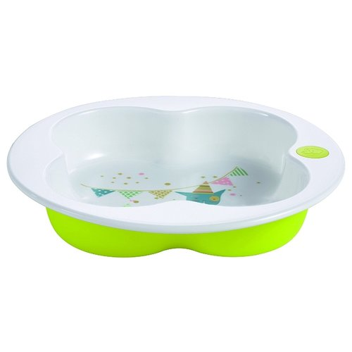 Тарелка Bebe confort в форме клевера green/white