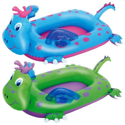 Лодочка надувная Bestway Дракончики 34084 BW зеленый/фиолетовый надувная лодочка bestway рыбки 34036 bw желтый