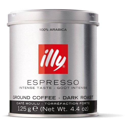 Кофе молотый Illy Espresso темная обжарка, 125 г illy espresso кофе молотый темной обжарки 125 г
