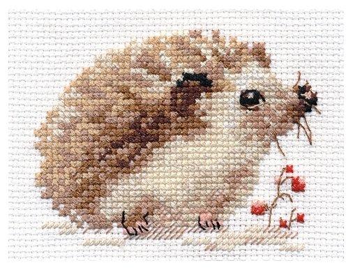 Алиса Набор для вышивания крестиком Ежонок 9 x 7 см (0-171)