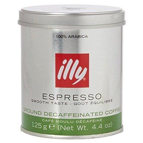 Кофе молотый illy DECAF без кофеина, 125 г illy