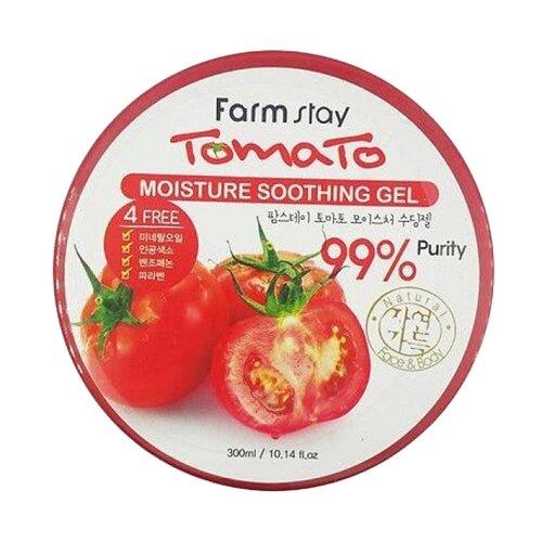 Гель для тела Farmstay многофункциональный с томатом Moisture Soothing Gel Tomato, 300 мл гель для тела farmstay универсальный смягчающий с экстрактом алоэ aloe vera moisture soothing gel 300 мл