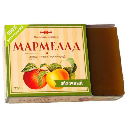 Мармелад Озерский сувенир фруктово-ягодный Яблочный 320 г take a bitey яблоко вишня батончик фруктово ягодный 25 г