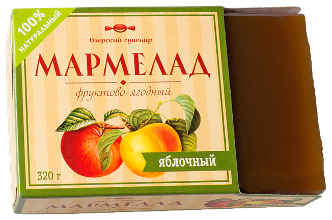 Мармелад Озерский сувенир фруктово-ягодный Яблочный 320 г