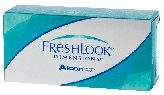 Контактные линзы FreshLook Dimensions 2 линзы Ежемесячные, 2 шт. -5.50, зеленый