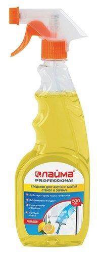 Спрей Лайма Professional Лимон для мытья стекол и зеркал (триггер)