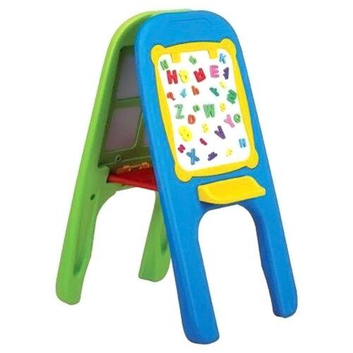 Доска для рисования детская Edu-play двусторонняя (GP-8014) зеленый/голубой play smart двусторонняя доска подводный мир разноцветный