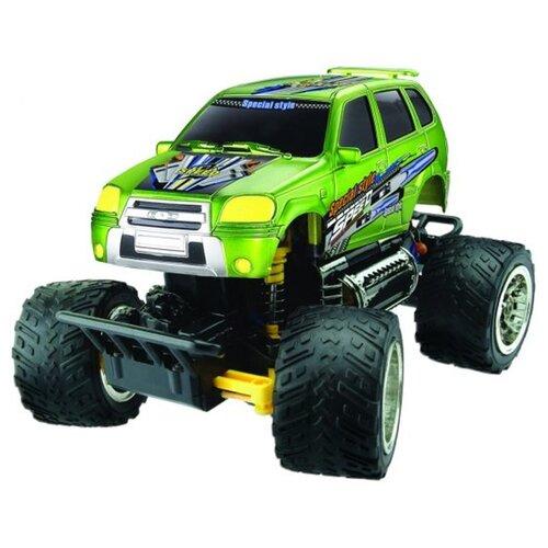 Купить Монстр-трак Пламенный мотор ПМ 030 (870261) 1:28 18 см зеленый, Радиоуправляемые игрушки