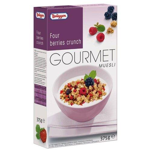 Мюсли Bruggen Gourmet хлопья с лесными ягодами, коробка, 375 гГотовые завтраки, мюсли, гранола<br>