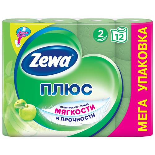 Туалетная бумага Zewa Плюс Яблоко двухслойная, 12 рул.Туалетная бумага и полотенца<br>