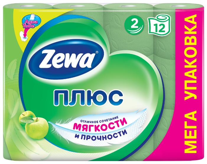 Туалетная бумага Zewa Плюс Яблоко двухслойная, 4 рул.