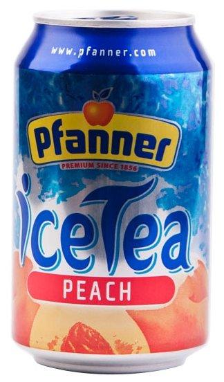 Чай Pfanner Персик с пониженным содержанием сахара, банка