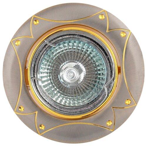 Встраиваемый светильник De Fran FT 189 SNG, сатин-никель / золото треугольник de fran ft 9228 g smd
