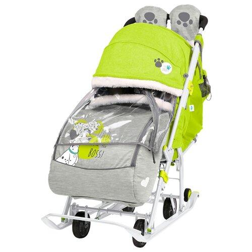 Санки-коляска Nika Disney baby 2 (DB2) с далматинцами лимонный