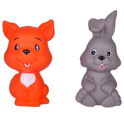 Купить Набор для ванной Жирафики Лисенок и зайчонок (681269) серый/оранжевый, Игрушки для ванной