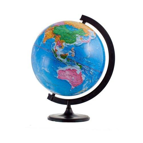 Фото - Глобус политический Глобусный мир 320 мм (10030) черный глобус физический глобусный мир 250 мм 10160 бирюзовый