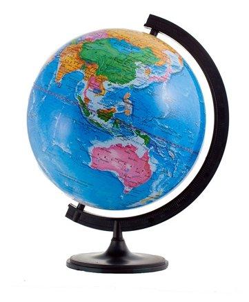 Глобус политический 32 см, на круглой подставке
