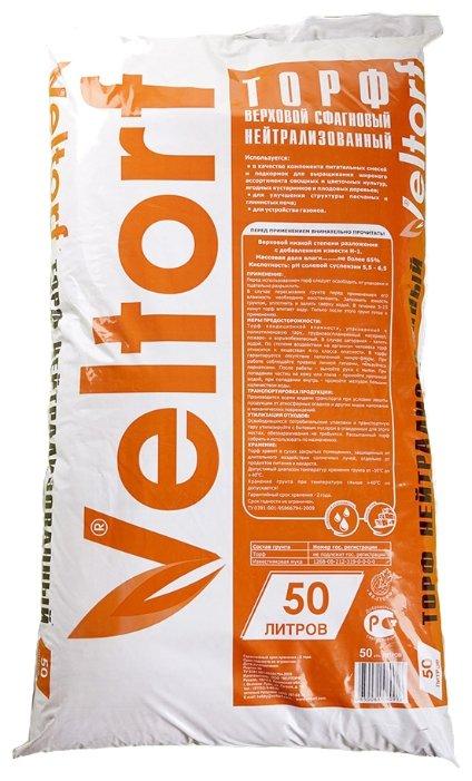 Торф верховой нейтрализованный 50л (Veltorf)