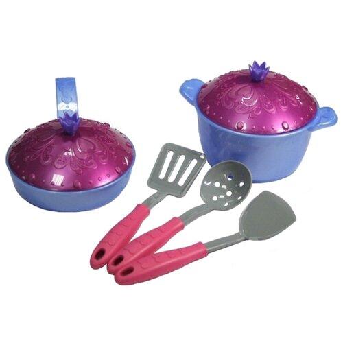 Набор посуды Нордпласт Волшебная хозяюшка 614 фиолетовый/розовый ролевые игры нордпласт набор волшебная хозяюшка 12 предметов
