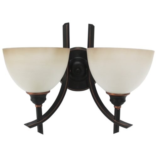 Настенный светильник De Fran YP2-3353-2WMBK+R, 80 Вт