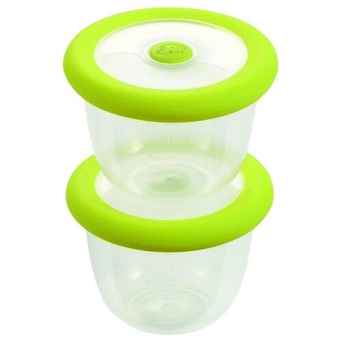 Набор контейнеров Bebe confort для хранения и разогрева пищи по 150 мл салатовый