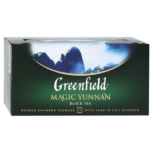 Чай черный Greenfield Magic Yunnan в пакетиках, 25 шт. чай зеленый императорский чай collection china yunnan в пакетиках 500 шт