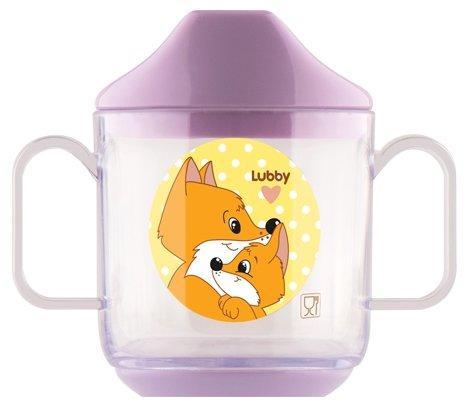 Чашка Lubby Веселые животные с крышкой (13950)