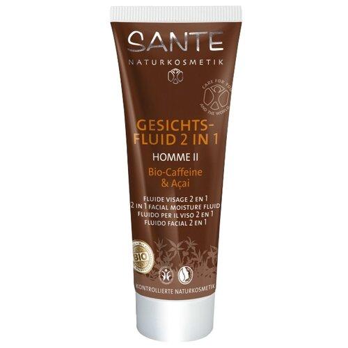 Sante Naturkosmetik Флюид для лица 2 в 1 Homme II Bio-Caffeine & Açai 50 мл