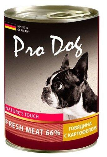 Корм для собак Pro Dog Для собак говядина с картофелем консервы (0.4 кг) 1 шт.