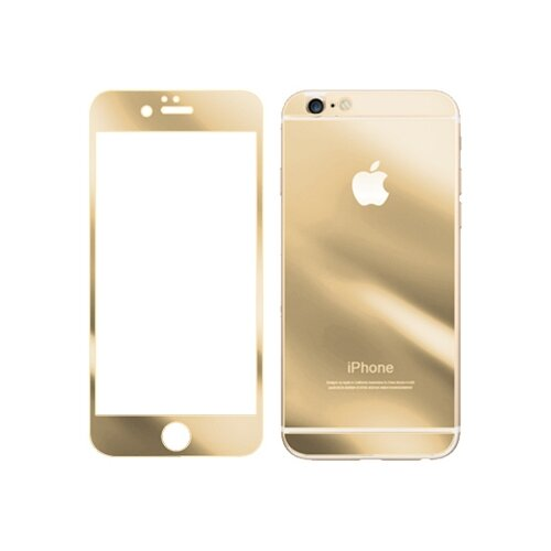 Защитное стекло CaseGuru зеркальное Front & Back для Apple iPhone 6 Plus/6S Plus Logo gold защитное стекло caseguru для apple iphone 6 6s silver logo