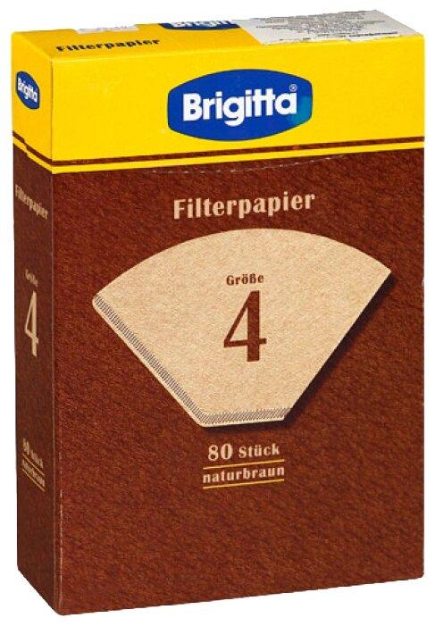 Одноразовые фильтры для капельной кофеварки Melitta Brigitta Размер 4