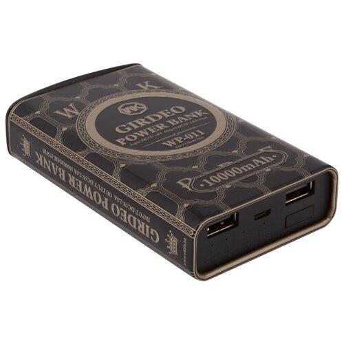 Аккумулятор WK WP-011 Girdeo 10000mAh черныйУниверсальные внешние аккумуляторы<br>