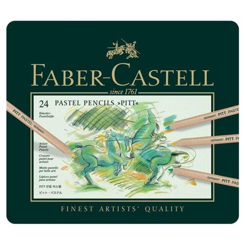 Купить Faber-Castell Пастельные карандаши Pitt 24 цвета (112124), Цветные карандаши