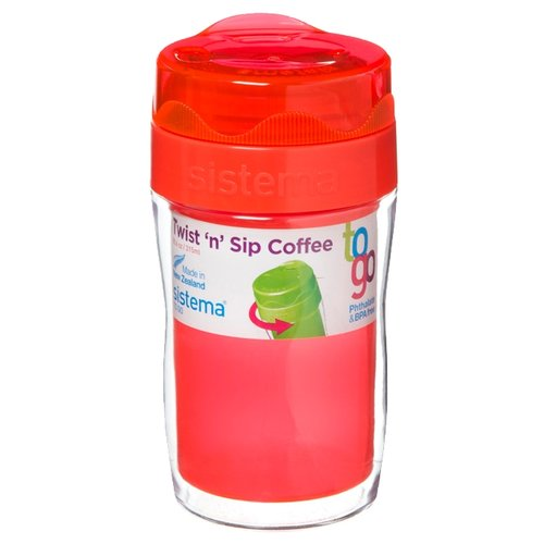 Термокружка Sistema Small Twist'n'Sip Coffee To Go (0,315 л) orangeТермосы и термокружки<br>