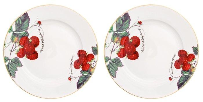 Elan gallery Набор тарелок для закуски Ягода - малина 20,5 см, 2 шт