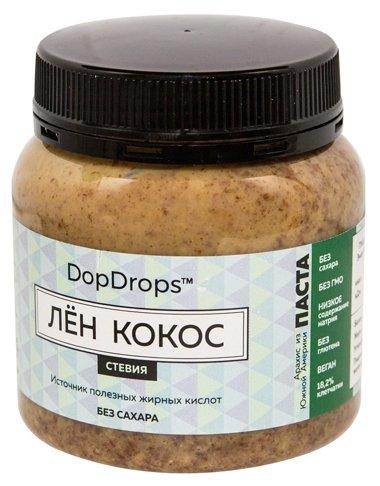 DopDrops Паста ореховая Лен Кокос (стевия) пластик