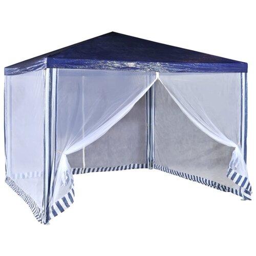 Фото - Шатер Green Glade 1033, со стенками и москитной сеткой, 3 х 3 х 2.5 м синий / белый шатер green glade 1003 со стенками и москитной сеткой белый зеленый