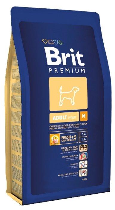 Корм для собак Brit Premium курица 8 кг (для средних пород)