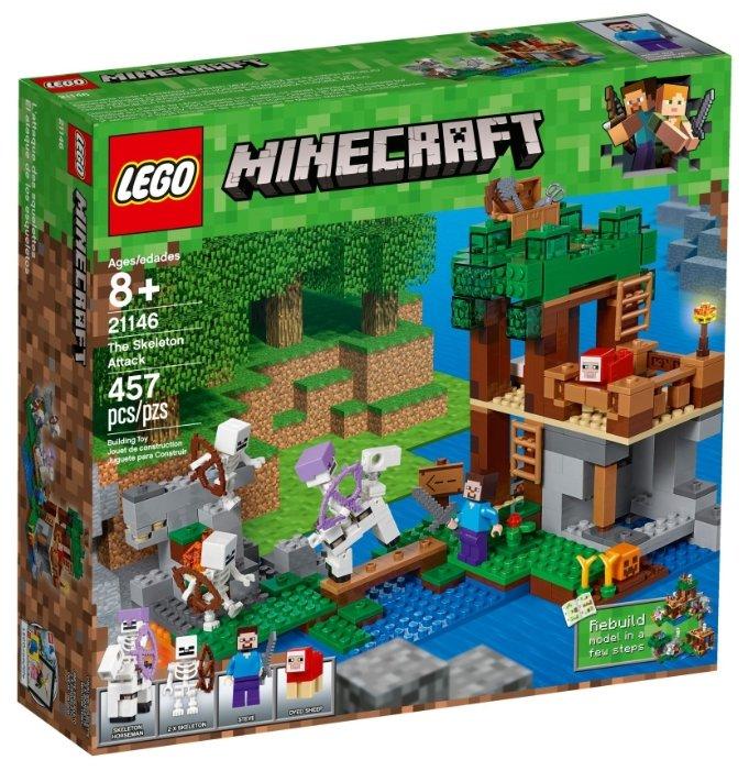 Конструктор LEGO Minecraft 21146 Нападение армии скелетов